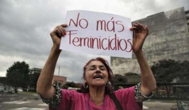 Protesta en contra de los feminicidios en el país.
