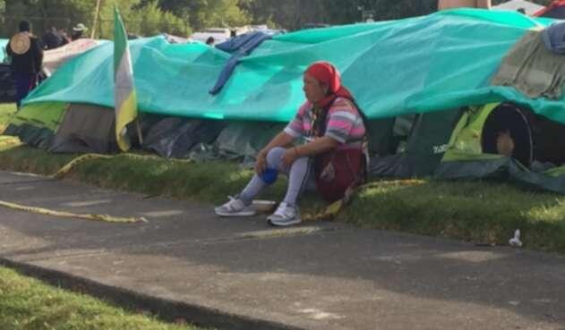Mujer indígena en Bogotá