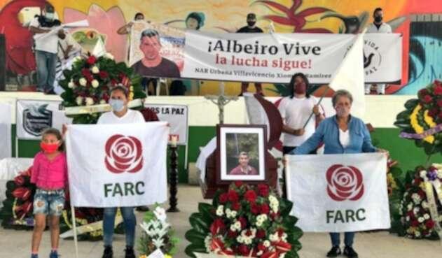 Honras fúnebres de excombatiente de las Farc asesinado en el Meta