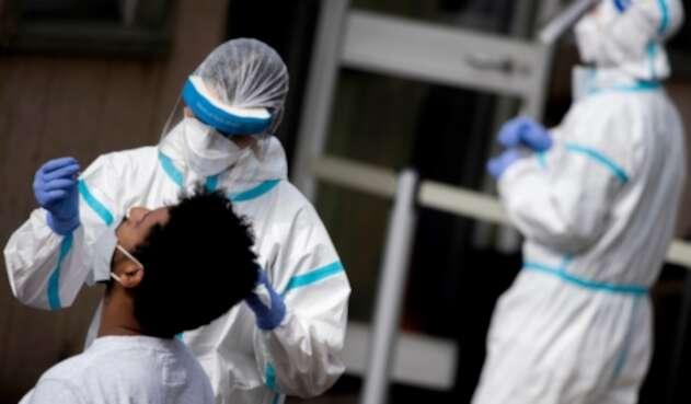 Prueba de coronavirus en Italia
