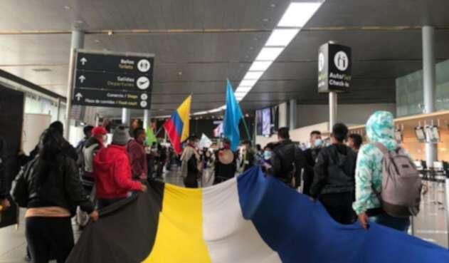 Indígenas protestan en El Dorado