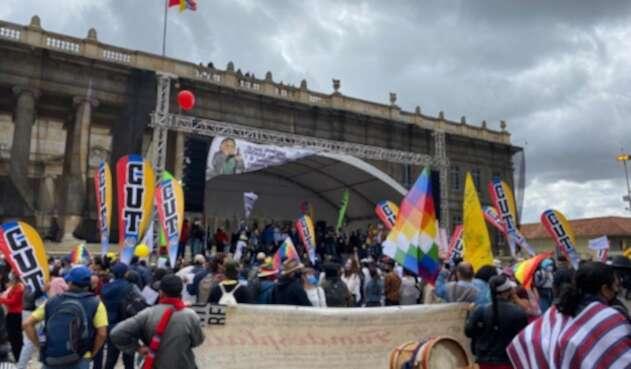 Marchas de la Centrales Obreras en Bogotá