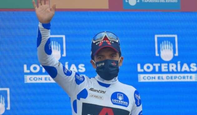 Richard Carapaz, líder de la Vuelta a España