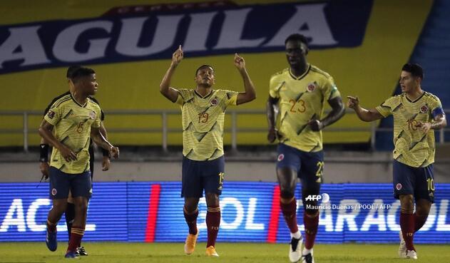 Selección Colombia: celebración de gol de la tricolor