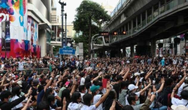 Protestas en Tailandia en medio de pandemia