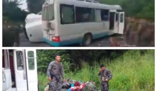 Accidente de soldados en Guatemala