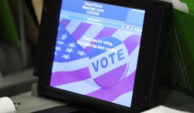 Elecciones en Estados Unidos - máquina de votación