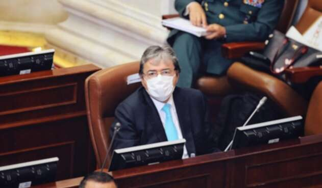Ministro de Defensa, Carlos Holmes Trujillo en debate de control político en Cámara