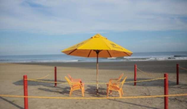 habilitan zona de playa en Bocagrande