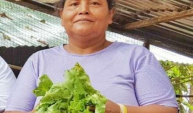 Mary Luz Pérez Camaño, integrante de Mujeres Siembra.