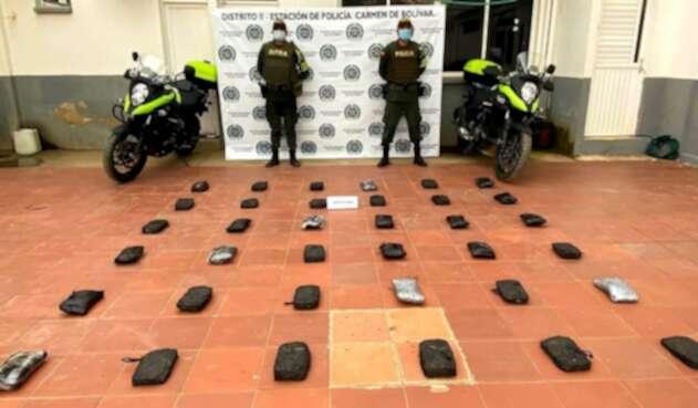 cargamento de droga en Bolívar