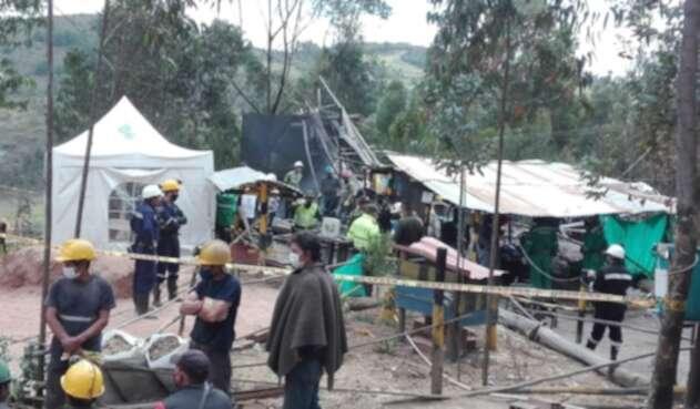 Tuta, Boyacá, mineros, rescate