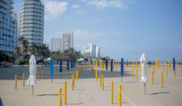 Habilitan nuevo sector de playas en Cartagena, ampliando la capacidad para propios y turistas