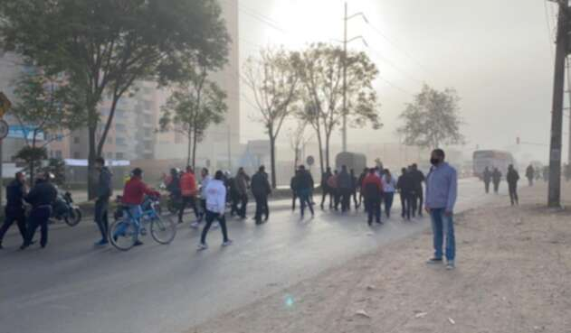 Transportadores de Cundinamarca protestan