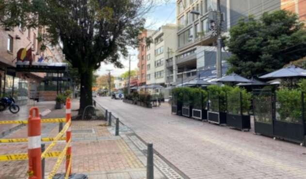 Obras en Zona Rosa de Bogotá