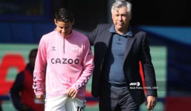 James y Ancelotti