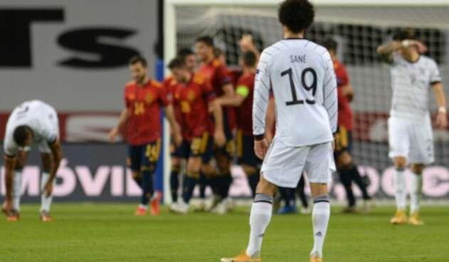 España vs. Alemania - Leroy Sané