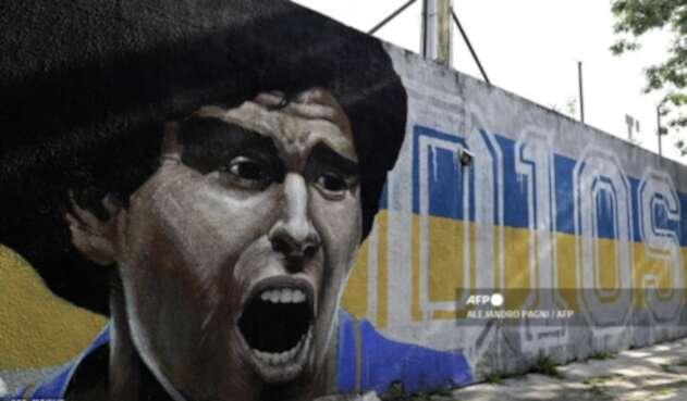 Diego Maradona, mural