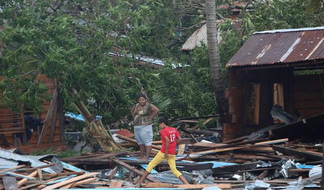 Paso de Huracán Eta en Nicaragua