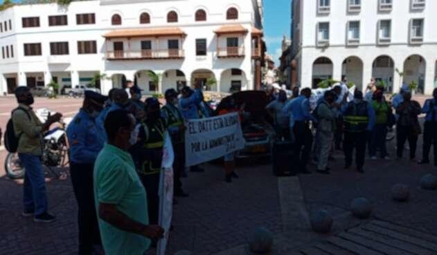 Protesta agentes del Datt Cartagena
