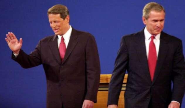 Al Gore y George W. Bush en 2000