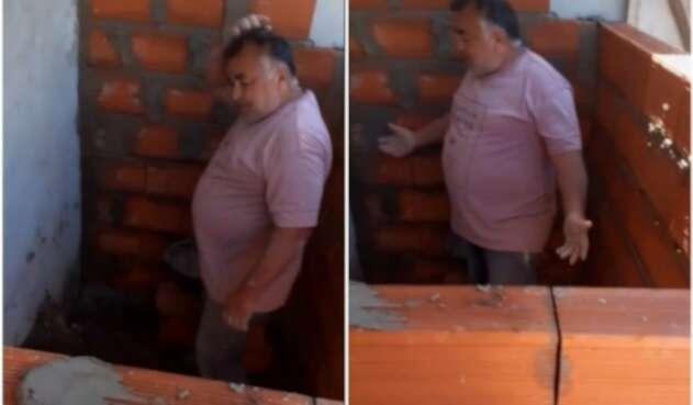 Albañil comete error en construcción