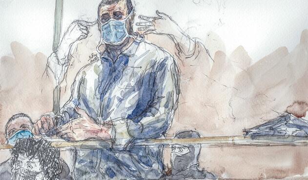 Ali Riza Polat compareciendo en audiencia sobre ataque a Charlie Hebdo