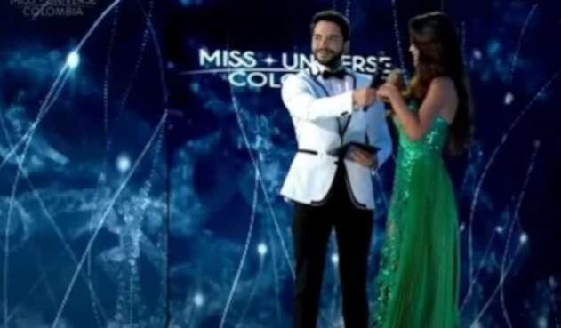 Sebastián Carvajal, presentador de Miss Universe Colombia