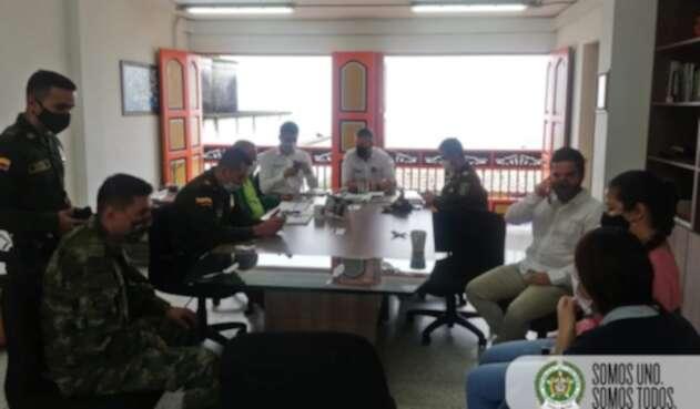 Consejo de seguridad en Támesis, Antioquia