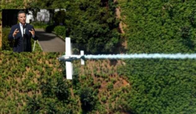 Retomar la aspersión aérea de los cultivos ilícitos, la propuesta de Aníbal Gaviria