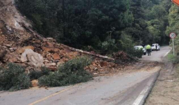 Derrumbe en la vía Bogotá-Choachí, 19 de noviembre de 2020