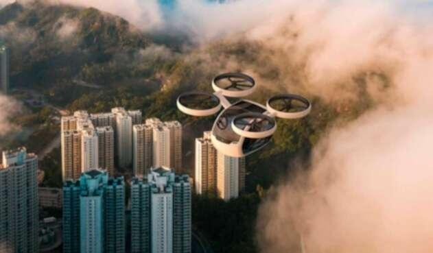 Drone que transporta a 4 personas