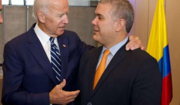 Presidente Iván Duque y presidente de Estados Unidos, Joe Biden.