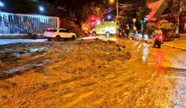 Emergencias por lluvias en Medellín.