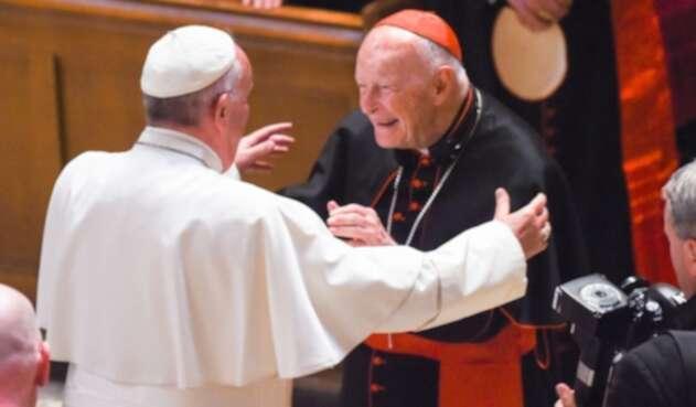 El papa Francisco y Theodore McCarrick