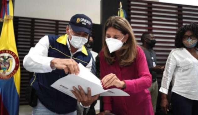 Marta Lucía Ramírez en Chocó