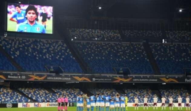 Homenaje de Napoli a Diego Maradona