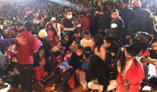 Inauguración de la temporada navideña en Bogotá