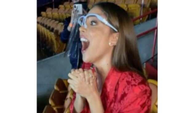 Greeicy Rendón, emocionada al ver a Mike Bahía ganar premio