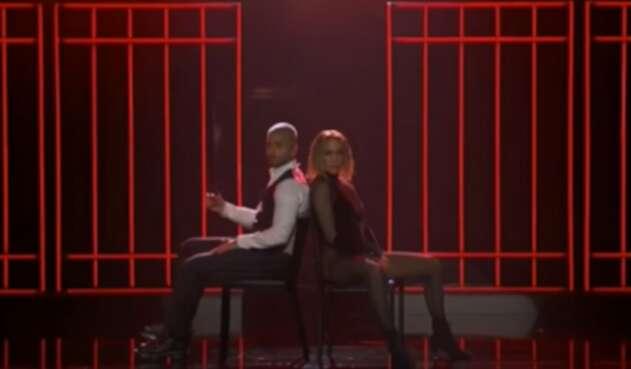 Jennifer López  y Maluma en los American Music Awards 2020