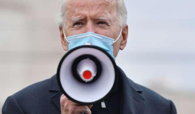 Joe Biden en acto de campaña en elecciones en EEUU 2020