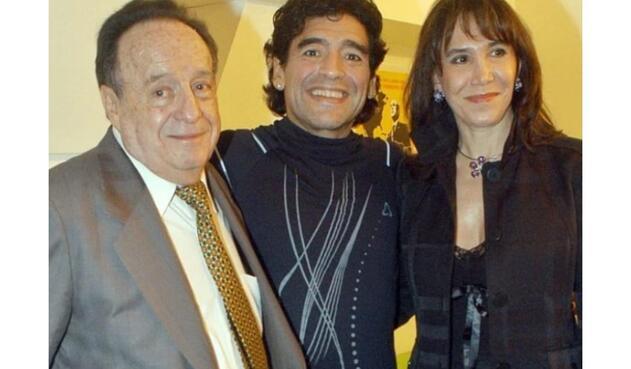 Roberto Gómez Bolaños y Diego Maradona