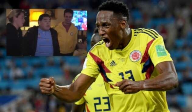 Maradona gritó así el gol de Yerry Mina