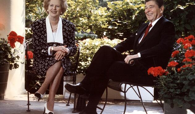 Margaret Thatcher y Ronald Reagan, su gran aliado