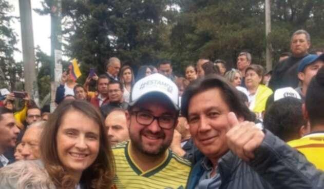 Paloma Valencia, Ciro Ramírez y Eduardo Pimentel