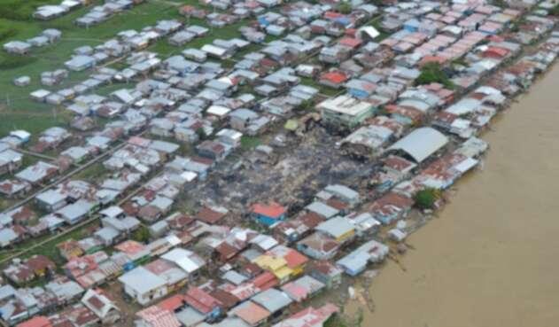 Panorámica incendio Riosucio, Chocó
