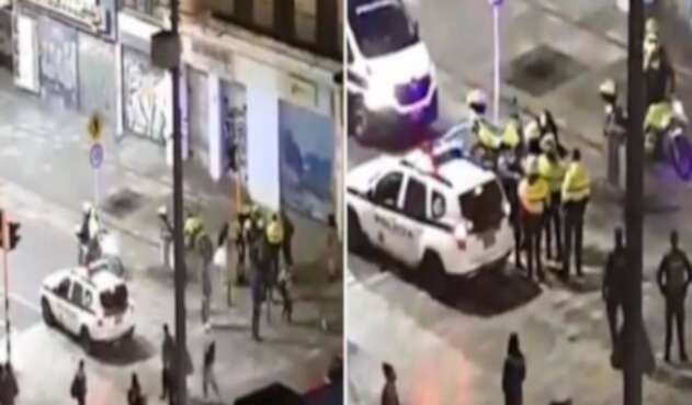 ¿Policías en Bogotá sometieron con taser a un hombre en Halloween?