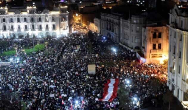 Protestas en Lima, Perú, contra Merino