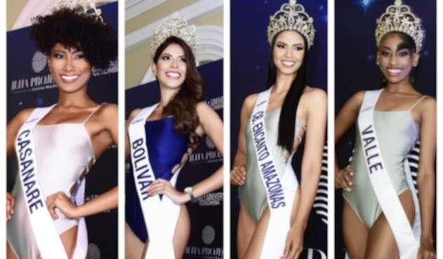Candidatas de Miss Universe Colombia en vestido de baño