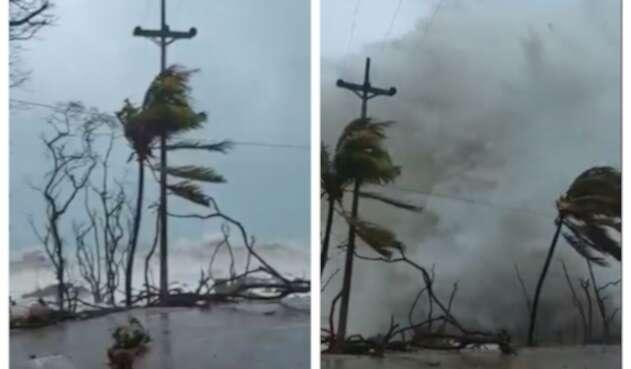 Estragos del huracán Iota en San Andrés